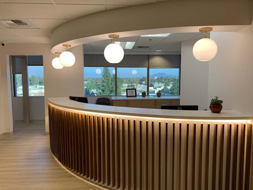 Interior view of Dougherty Orthodontics Office front desk